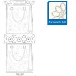 Sticker trasparenti con profilo oro 3190
