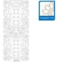 Sticker trasparenti con profilo oro  3191
