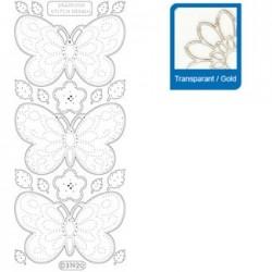 Sticker trasparenti con profilo oro 3192