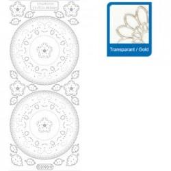 Sticker trasparenti con profilo oro 3193