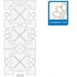 Sticker trasparenti con profilo oro 3199