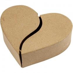 Scatola cuore di cartone