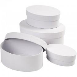 Scatole ovali di cartone