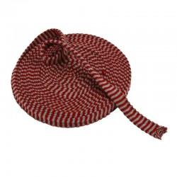 Tubo di maglia, h 3 cm - 1 mt ROSSO NATALE/GRIGIO