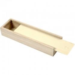 Astuccio di legno chiaro