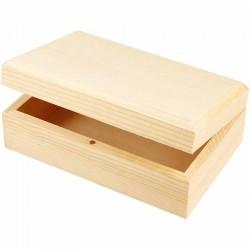 Scatola di legno con chiusura magnetica