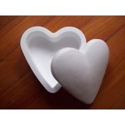 Scatola cuore polistirolo - 16x16 cm