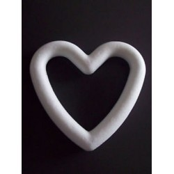 Cornice cuore polistirolo - 20 cm