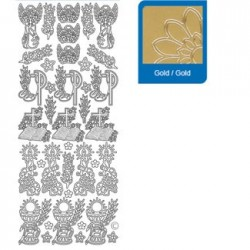Sticker argento comunione a883
