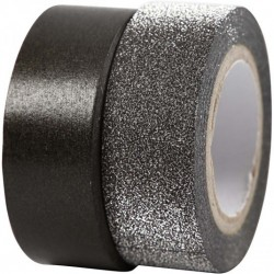 Design Tape 15 mm,  NERO