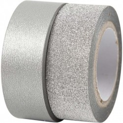 Design Tape 15 mm,  ARGENTO