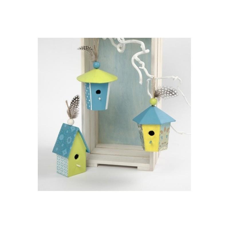 Mini casette uccelli in cartone