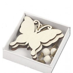 Decorazioni di legno farfalla 6 cm