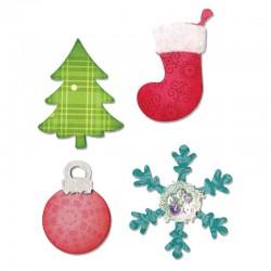 Fustella Albero, Calza, Pallina di Natale e Fiocco di Neve
