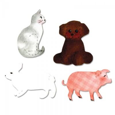 Fustella Gatto, Orsetto, Coniglio e Maiale