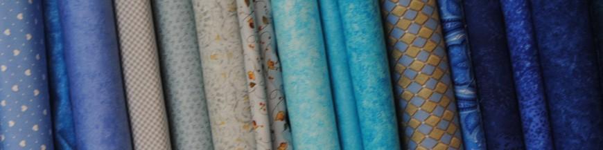Tessuti blu e azzurri